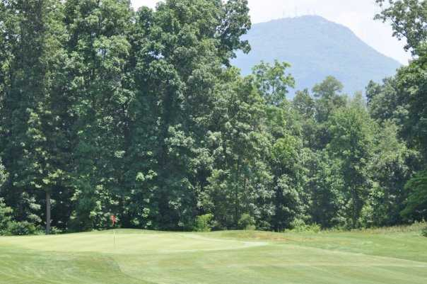 A view of hole #2 at Mountain Course from Lakeview Golf Club