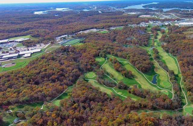 Aerial view of Bear Creek Valley Golf Club