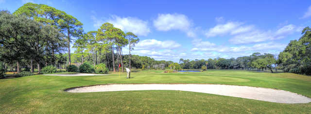A view of a well protected hole at Oleander Course from Jekyll Island Golf Club