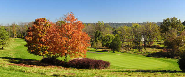 A view of hole #7 at Green Knoll Golf Course