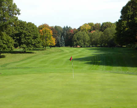 A view of the 13th green at Youngstown Country Club