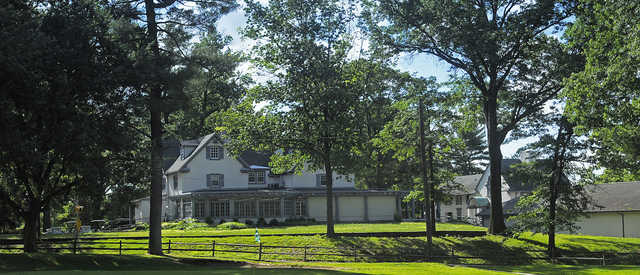A view of the clubhouse at Karakung from Cobb's Creek Golf Club