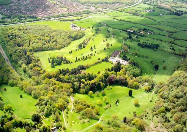 Aerial view of Llanishen Golf Club