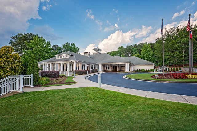 View of the clubhouse at Stone Mountain Golf Course