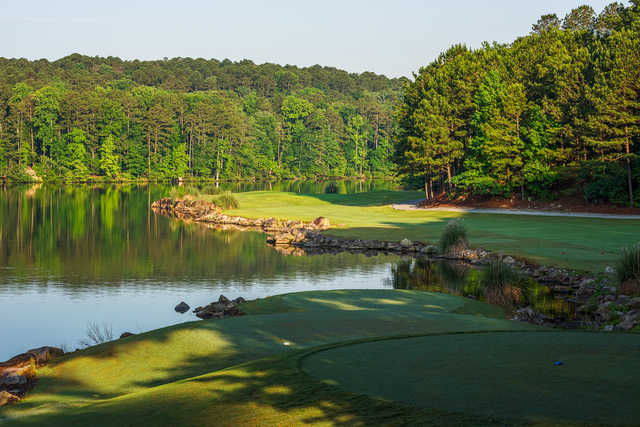 View of the 6th green from the Lakemont at Stone Mountain Golf Course