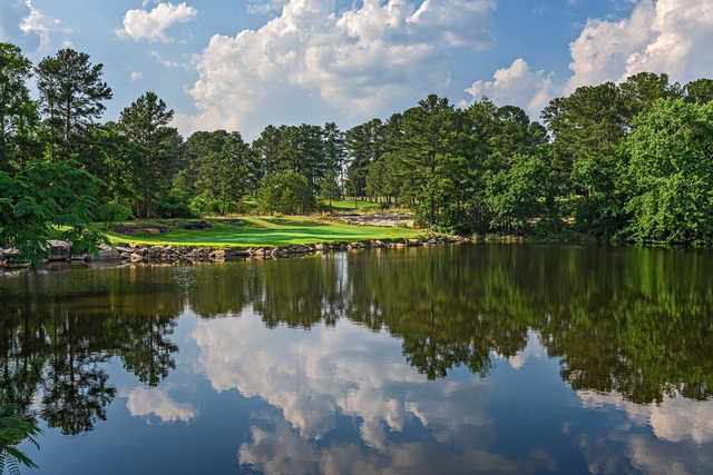 View of the 11th hole from the Lakemont at Stone Mountain Golf Course