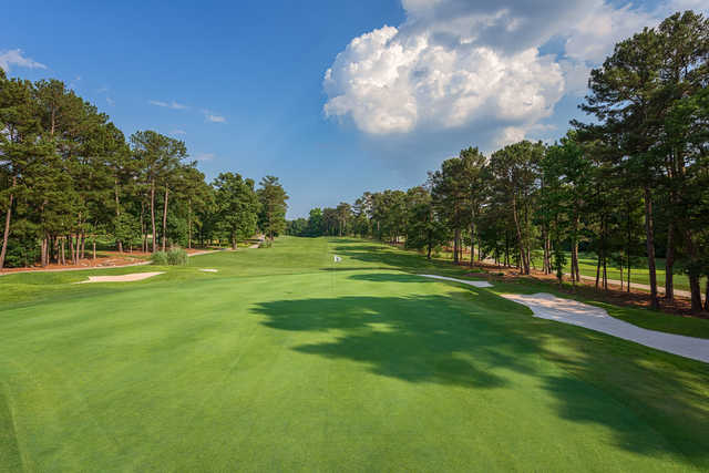 Looking back from the 15th hole from the Lakemont at Stone Mountain Golf Course