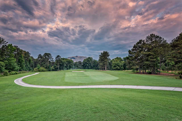 View of the 16th green from the Stonemont at Stone Mountain Golf Course