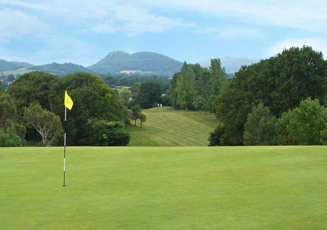 View from a green at Arscott Golf Club
