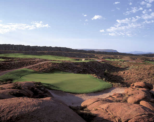 View of the 6th hole at Coral Canyon Golf Course