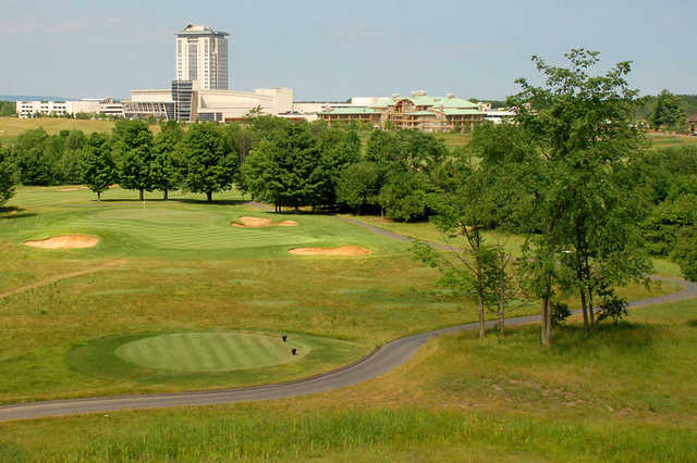 A view of hole #8 at Turning Stone - Shenendoah Golf Club