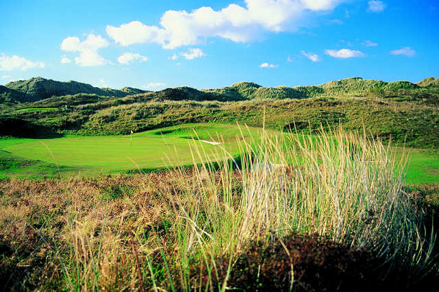 A view of hole #11 at Royal St. David's Golf Club