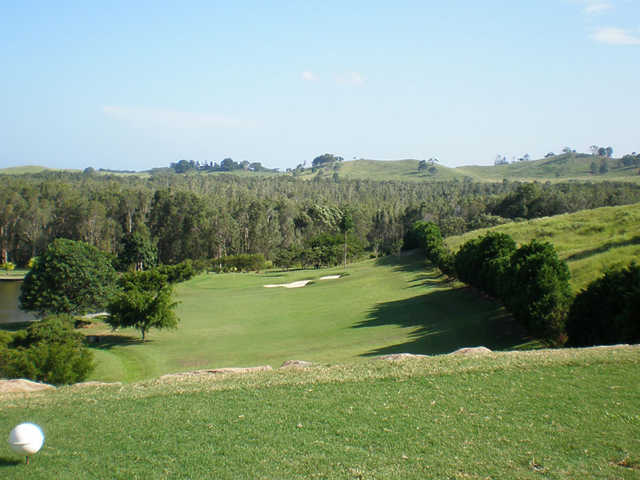 A view the 1st tee at Pottsville Golf Course