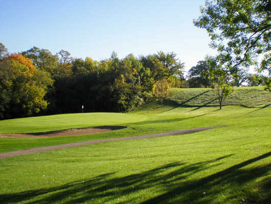 A view of hole #6 at Bluff Creek Golf Course