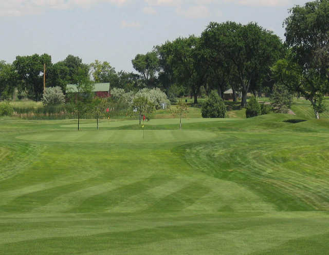 A view of green #7 at Quail Dunes Golf Course