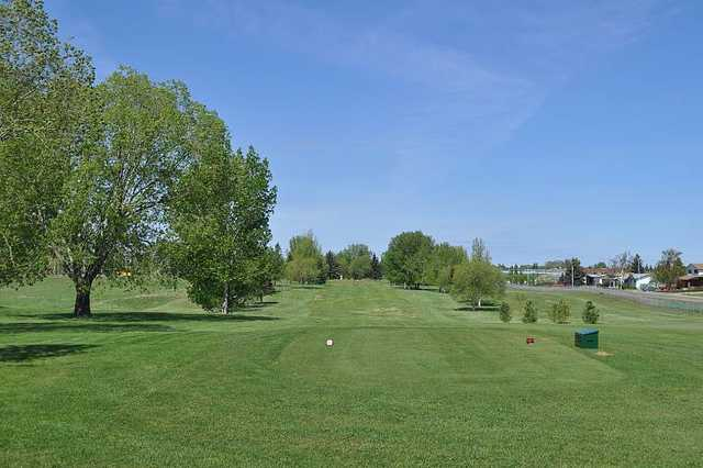 A view from a tee at Brooks Golf Club