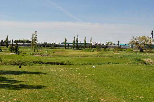 A view of a green at Brooks Golf Club