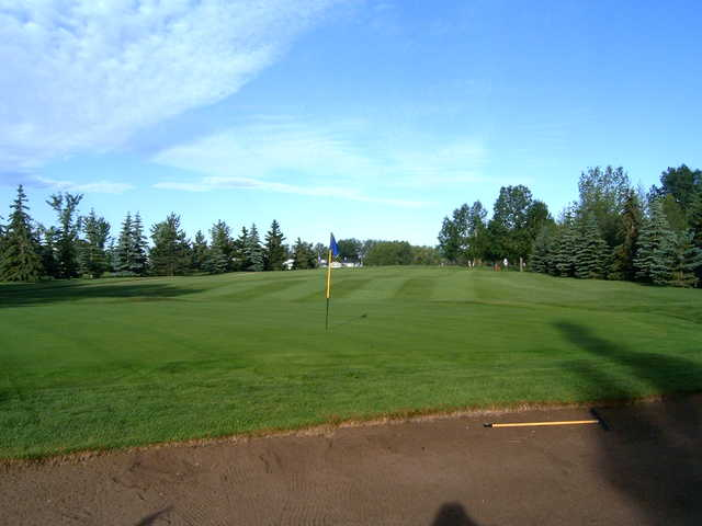 A view of hole #14 at Carstairs Community Golf Club