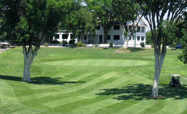 A view of the 9th hole at Quail Dunes Golf Course