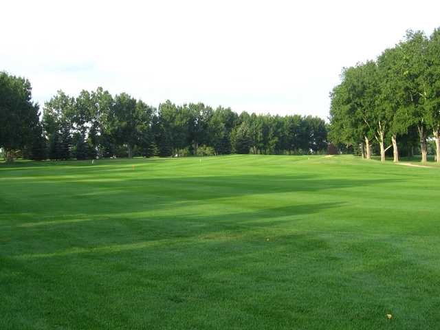 A view of a fairway at Carstairs Community Golf Club