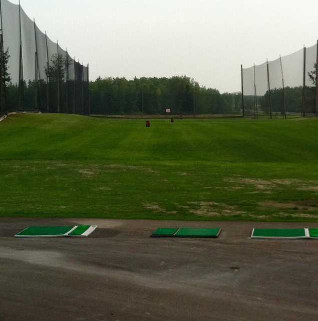 A view of the driving range at Grand Centre Golf and Country Club