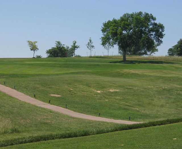 A view of the 8th green at Quail Dunes Golf Course