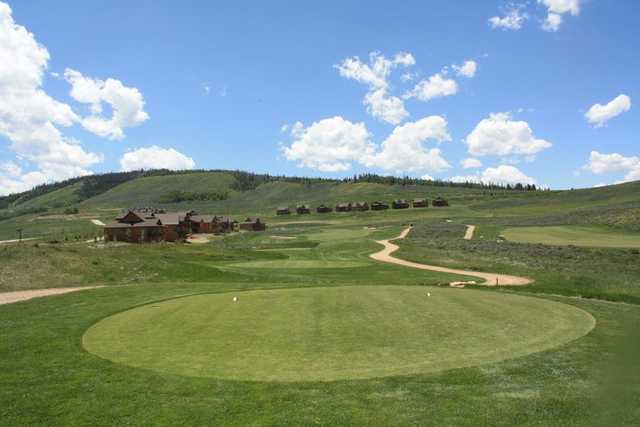 A view from green #15 at Granby Ranch