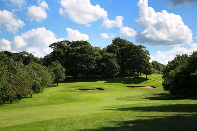 The approach to the 12th at Oulton Hall Golf Club