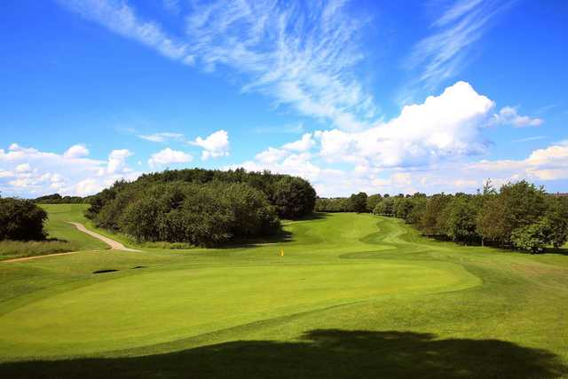 A stunning view of the 12th hole at Oulton Hall Golf Club