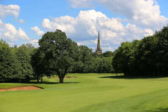 Stunning views of the course and church spire at Oulton Hall Golf Club