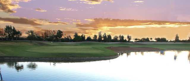 Sunset view from Lone Tree Golf Club