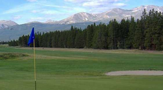 A view of green at Mount Massive Golf Course