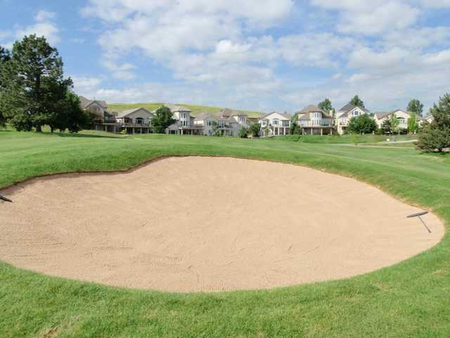 A view of the 14th fairway with bunker in foreground at South Suburban Golf Course - Eighteen Hole