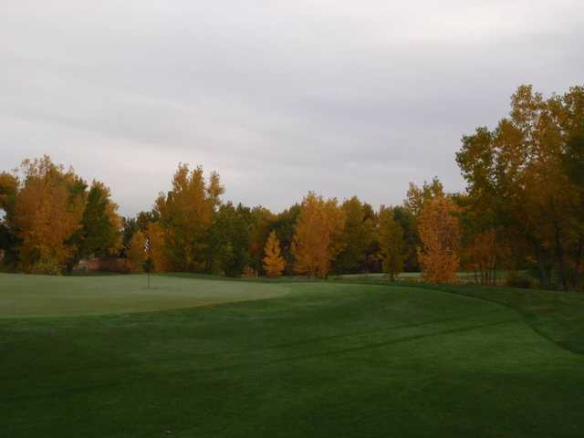 A view of green #4 from Nine Hole at South Suburban Golf Course.