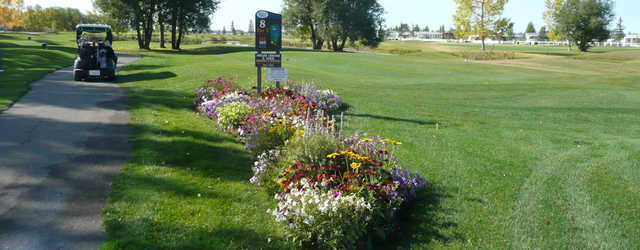 A view of tee #8 sign at Gleniffer Lake Resort and Country Club
