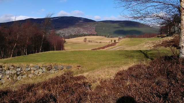 Looking down the 4th hole at Braemar Golf Club