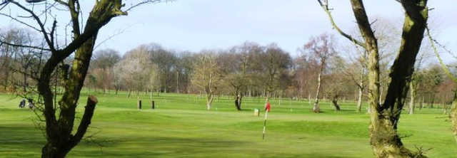 A view of a green at Arrowe Park Golf Course