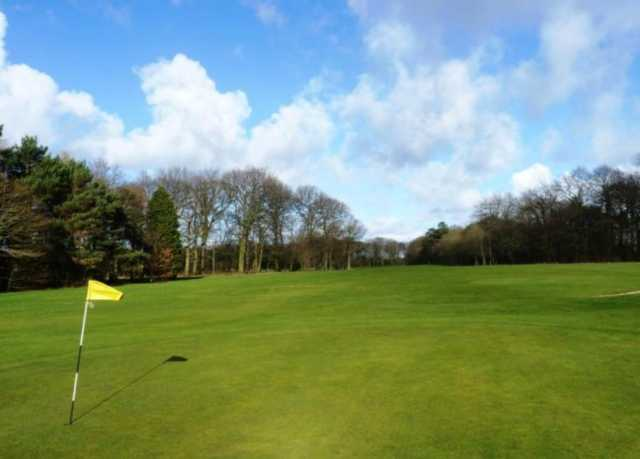 A view of the 3rd green at Arrowe Park Golf Course