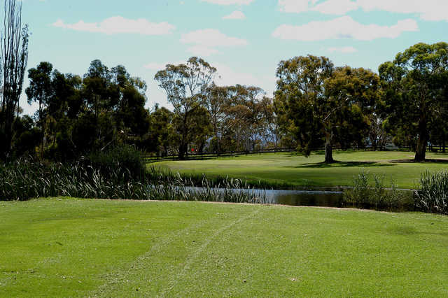 View of the 11th hole at Cooma Golf Club