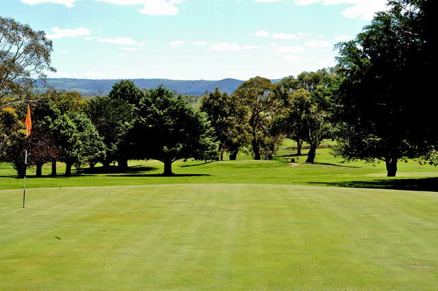 View from the 9th hole at Cooma Golf Club
