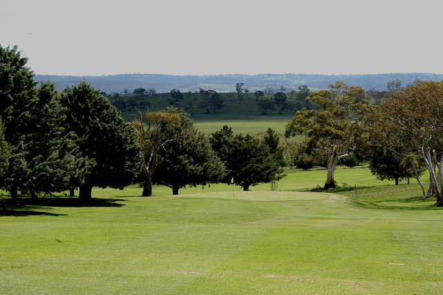 View of the 1st hole at Cooma Golf Club