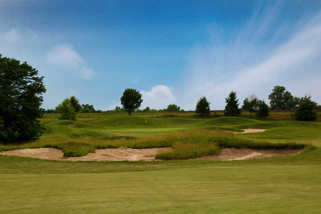 View of a green at Falcon Lakes Golf Course