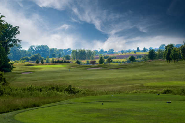 View from a tee at Falcon Lakes Golf Course