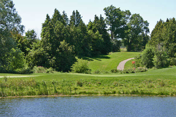 A view of the 6th hole at Whispering Ridge Golf Course