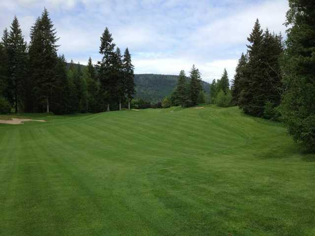 A view from a fairway at Salmon Arm Golf Club