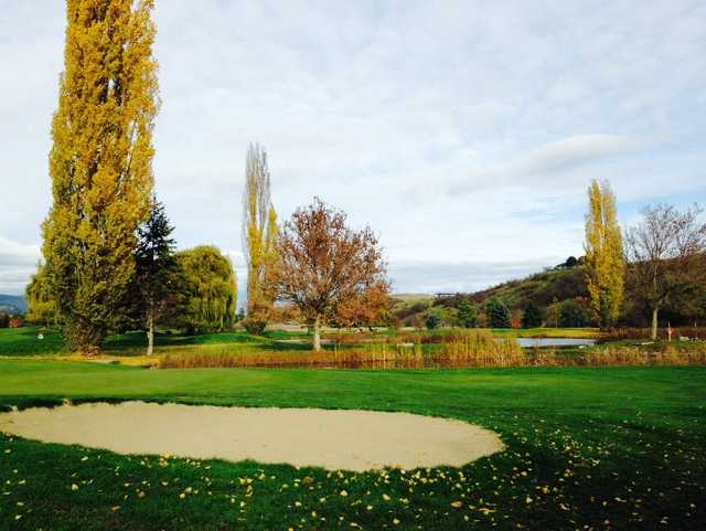 A fall day view from Spallumcheen Golf and Country Club