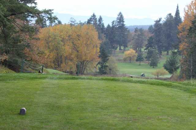 A view from #2 black tee at Olympic View Golf Club