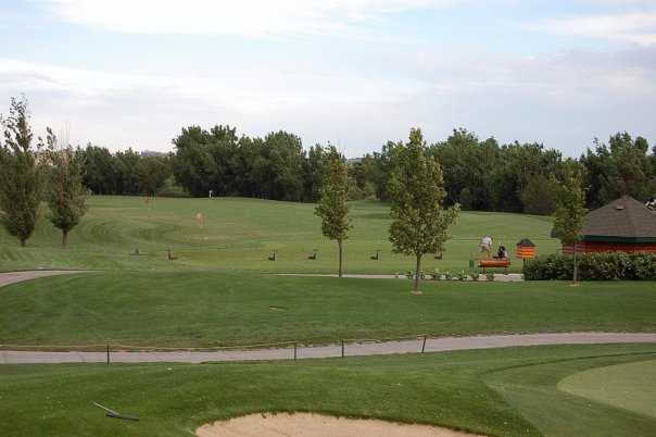 A view of the driving range at Pelican Lakes Golf Club