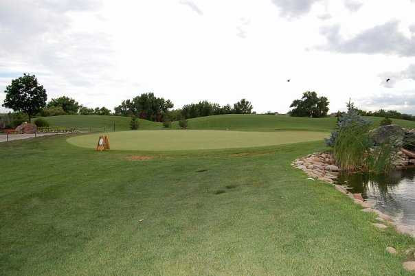 A view of the practice green at Pelican Lakes Golf & Country Club