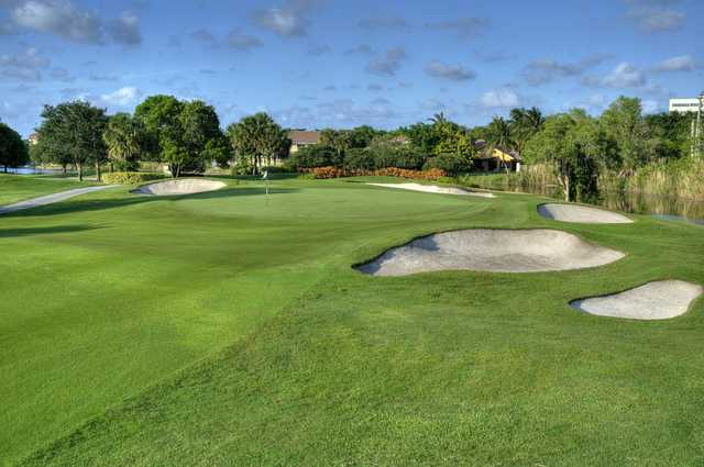View of the 4th hole from the East course at Jacaranda Golf Club